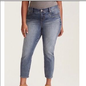 Torrid Denim Follow Your Heart Girlfriend Jeans